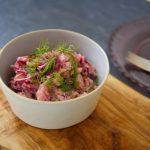 【サラダ嫌いのサラダ】ピンク色のポテトサラダ